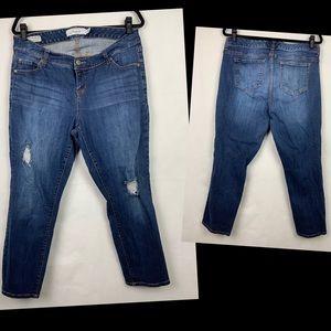 TORRID Ex-boyfriend Fit Jeans Distressed Size 12